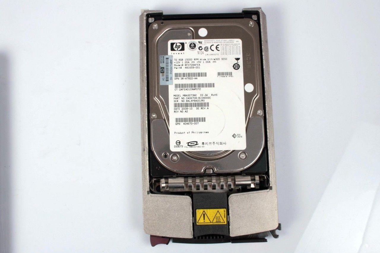 HP 72.8GB 481659-001 15K U320 SCSI 80pin Hard Drive BF0728AFEA 404670-007