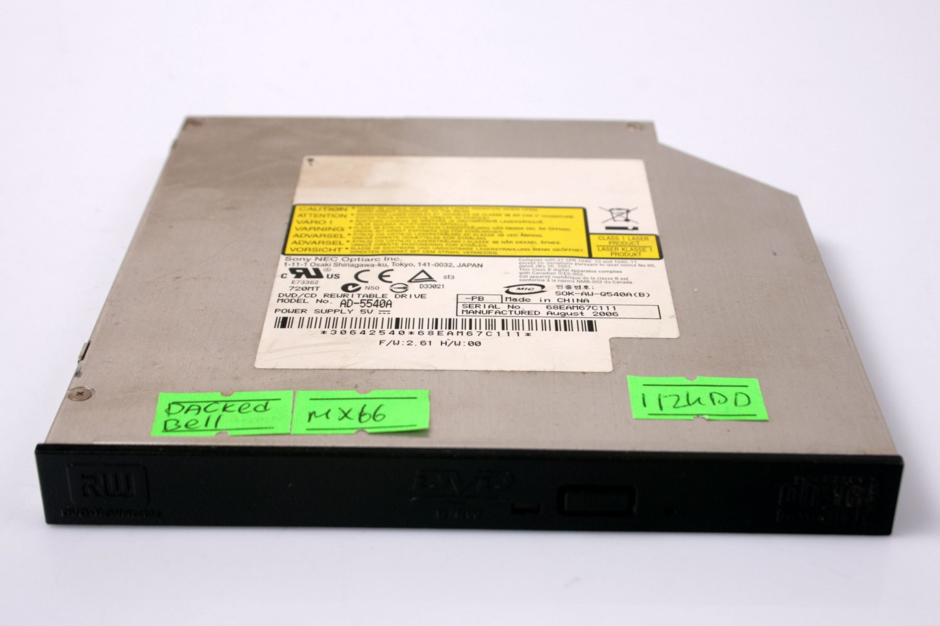 Packard Bell EasyNote MX66 DVD/RW Combo Drive AD-5540A