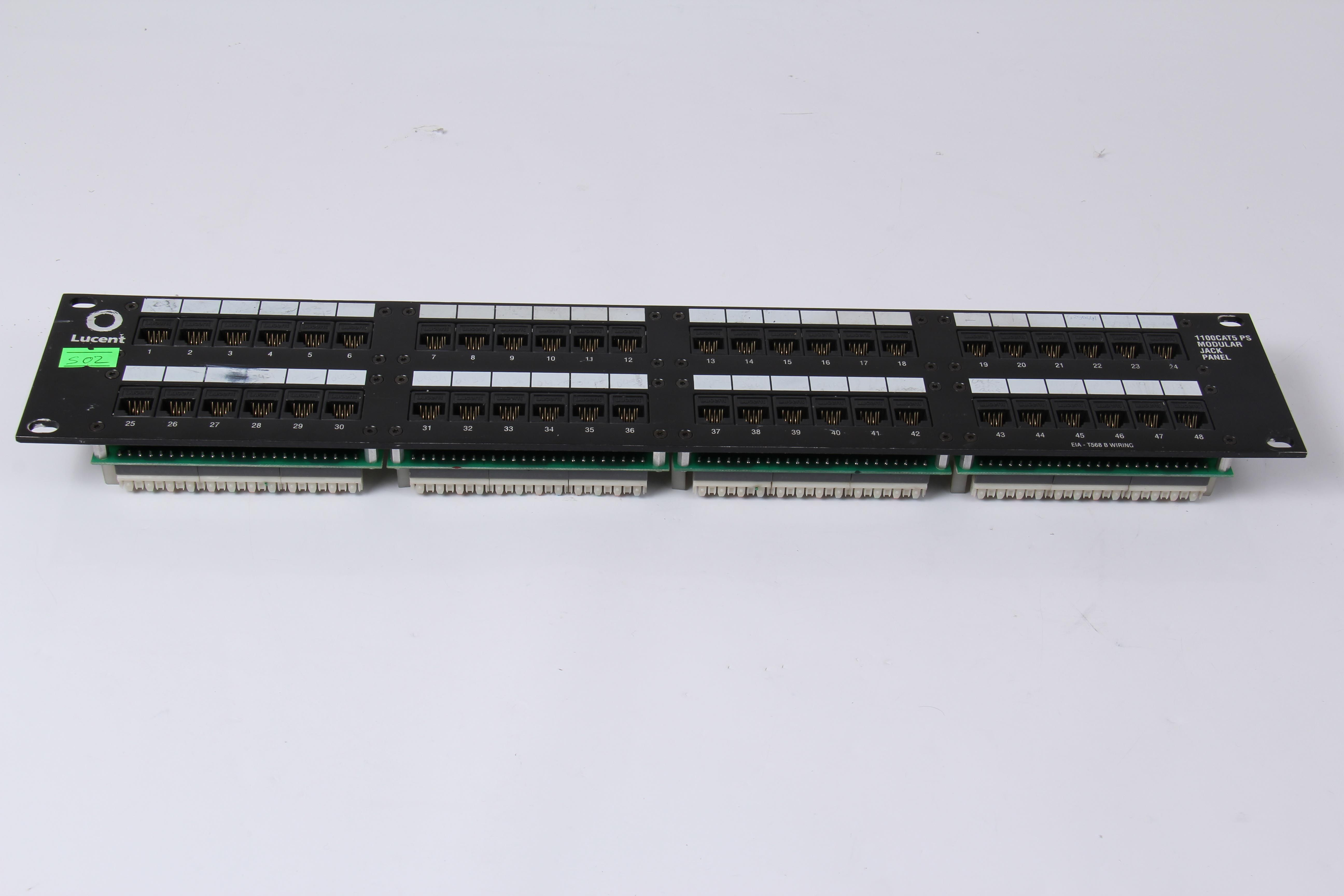 LUCENT Modular Jack 28-Port Patch Panel 1100CAT5PS-48 107914558