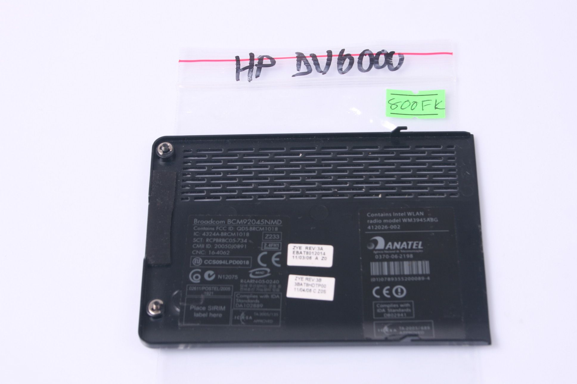 HP PAVILION DV6000 Hard Drive Cover Door 412026-002