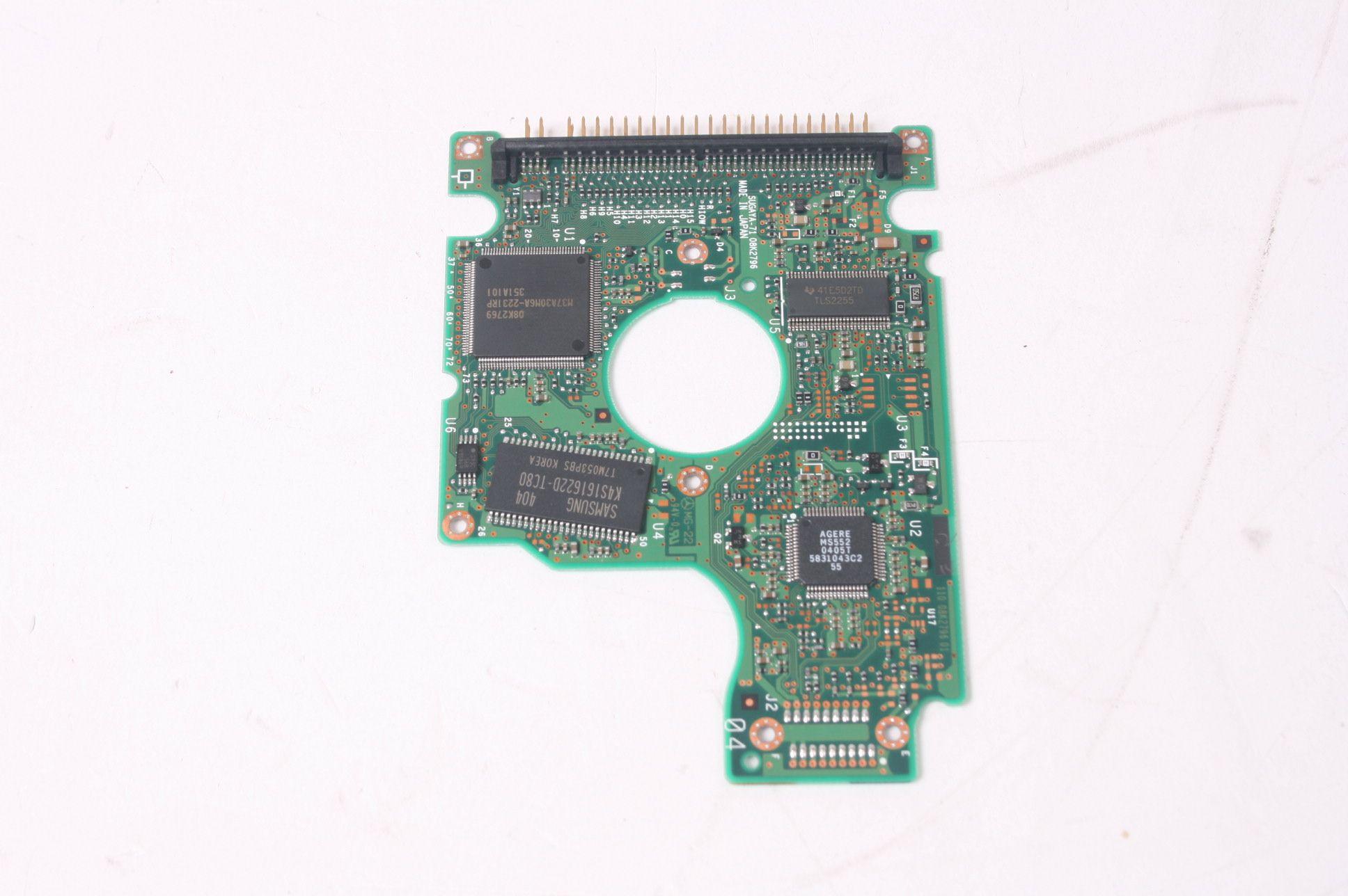 HITACHI IC25N00ATMR04-0 60GB 2.5 IDE HARD DRIVE / PCB (CIRCUIT BOARD) ONLY FOR DA