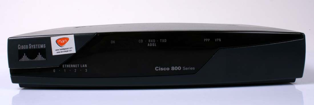 CISCO 857 Wired Router 4 Port Switch (Network Router)