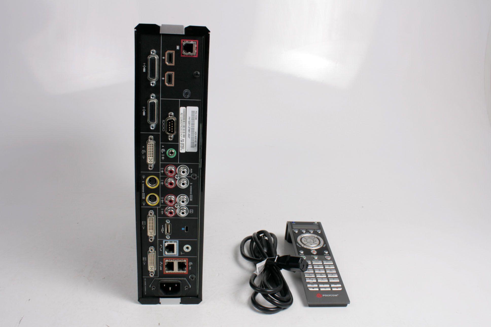 Polycom HDX 8000 HD Video Conferencing Equipment Base Unit 2201-27951-002