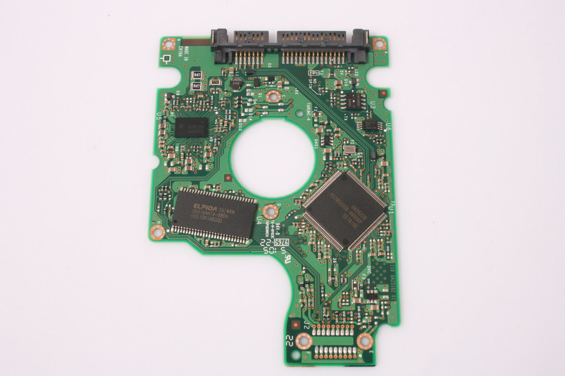HITACHI Travelstar 60GB HTS541060G9SA00 SATA 2,5 HARD DRIVE / PCB (CIRCUIT BOARD) ONLY FOR DATA