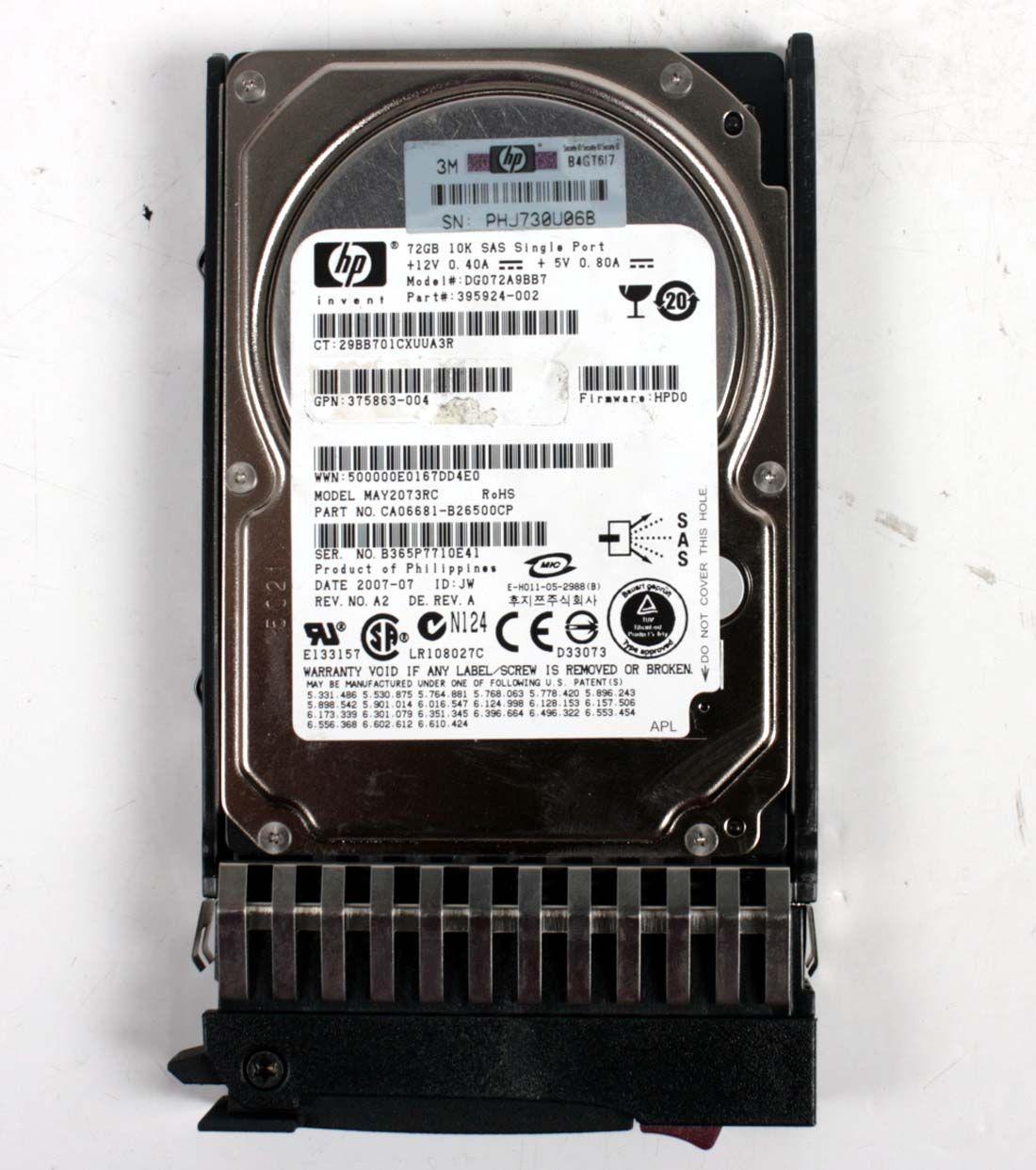 HP 72.0GB 10K SAS 2,5