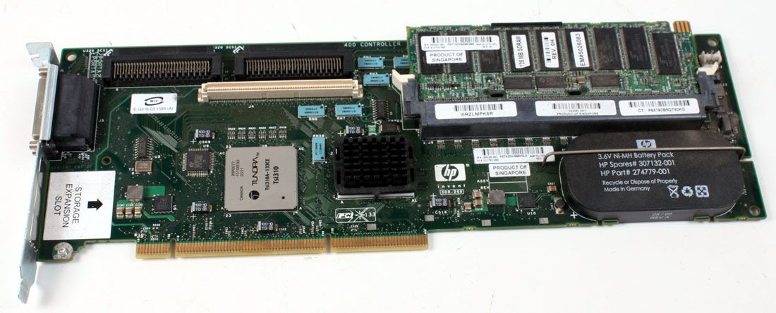 HP RAID Controller Battery Dual Port 6400 W/ 128MB Cache 309520-001 309521-001 274779-001