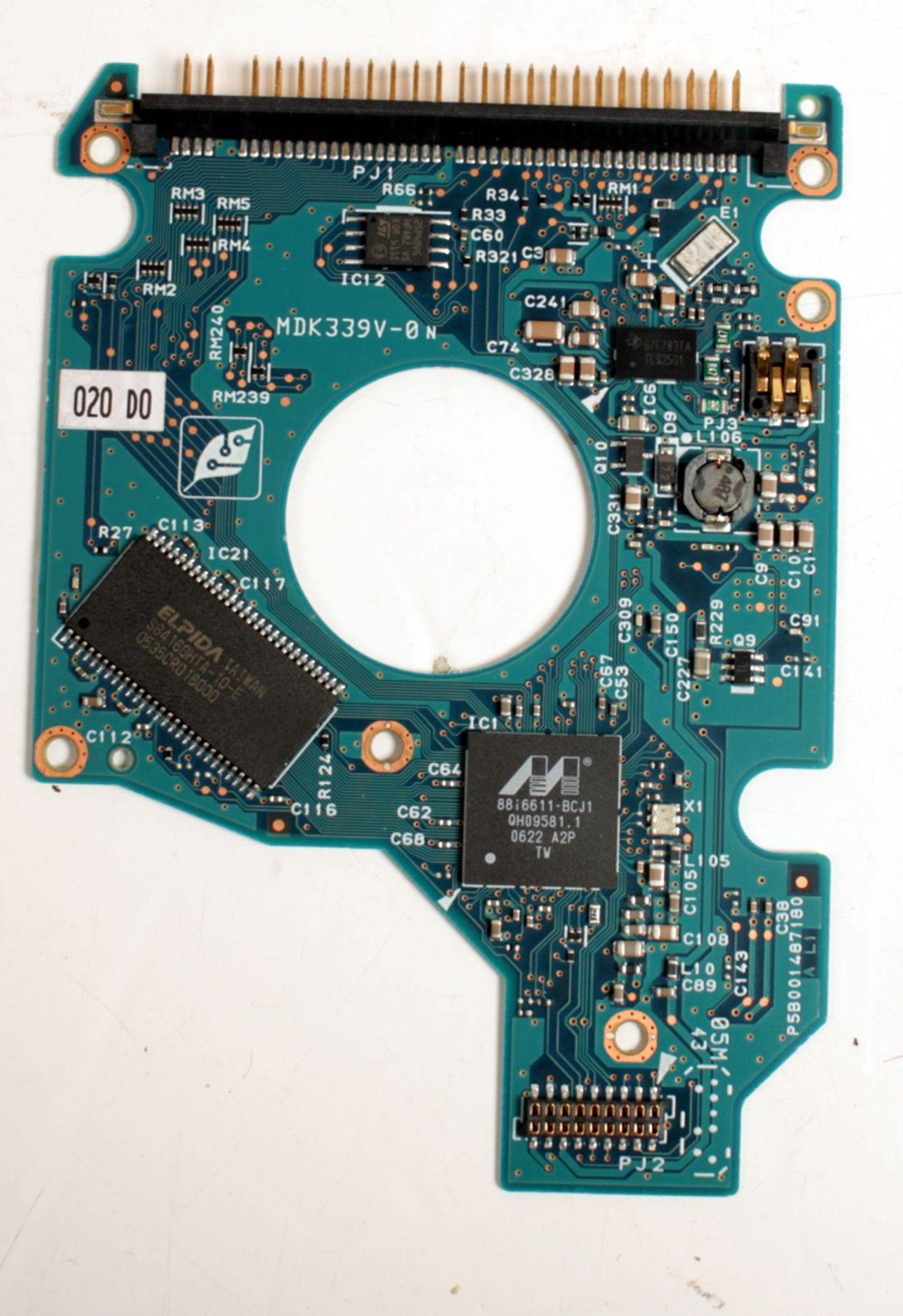 TOSHIBA MK8046GSX 80GB 2,5 SATA HARD DRIVE / PCB (CIRCUIT BOARD) ONLY FOR DATA