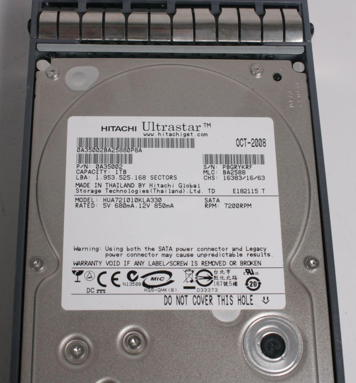 NetApp X269A-R5 HITACHI 1TB 7.2K SATA Hard Drive 108-00180+A3 DS14 MK2