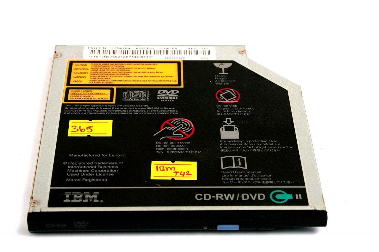 IBM Thinkpad T42 DVD Reader, CD Writer (Combo) 13N6769
