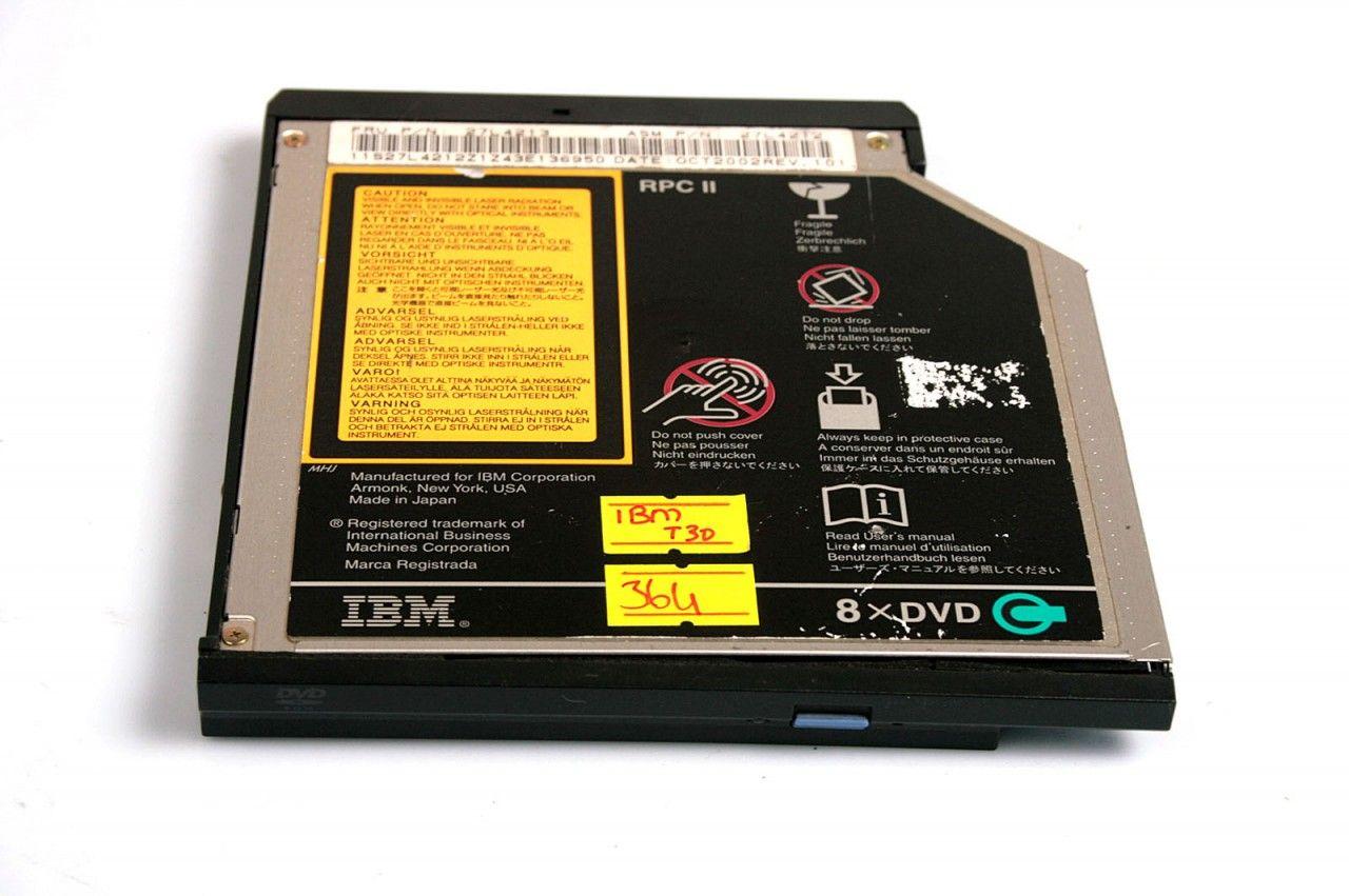 IBM Thinkpad T30 8x DVD Rom Drive SD-C2512 - 27L4213