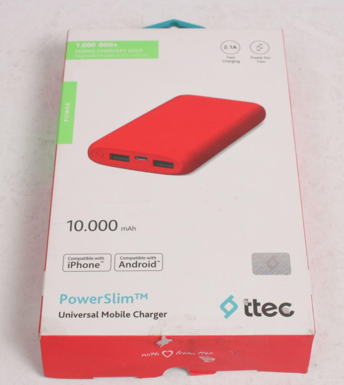 TTEC PowerSlim Universal Mobile Changer 10.000 mAh 2BB133K