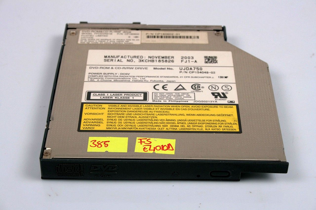 Fujitsu Lifebook E4010D DVD-ROM & CD-R/RW Drive CP160602-01