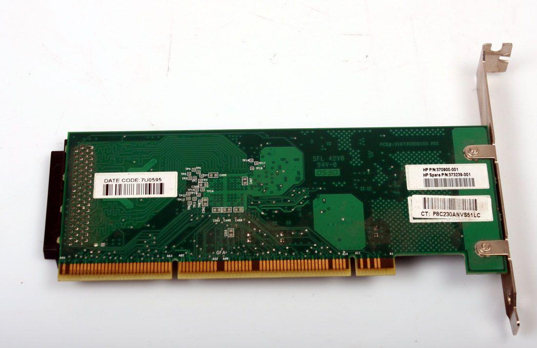 HP Ultra 320 PCI-X SCSI RAID Controller Board 373239-001 370900-001