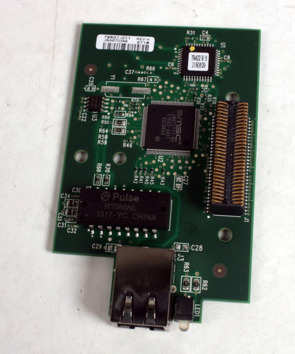 ZEBRA ZE500-4 Thermal Label Printer Network Card Print Server 79501-011