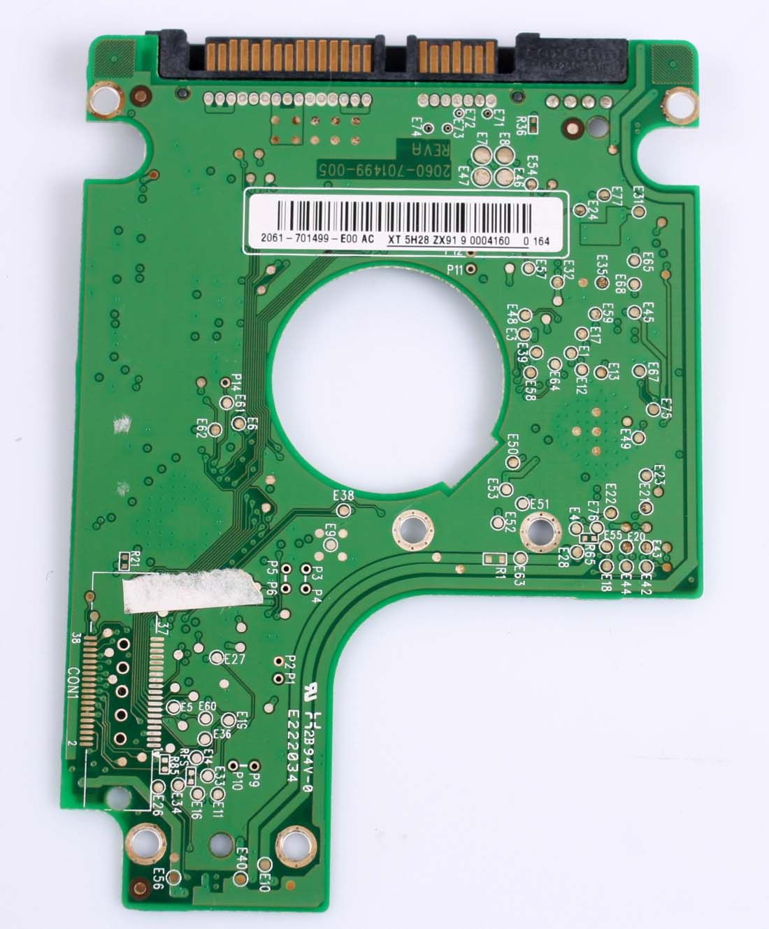 WD WD3200BEVT-22ZCT0 320GB 2,5 SATA HARD DRIVE PCB BOARD ONLY FOR DATA