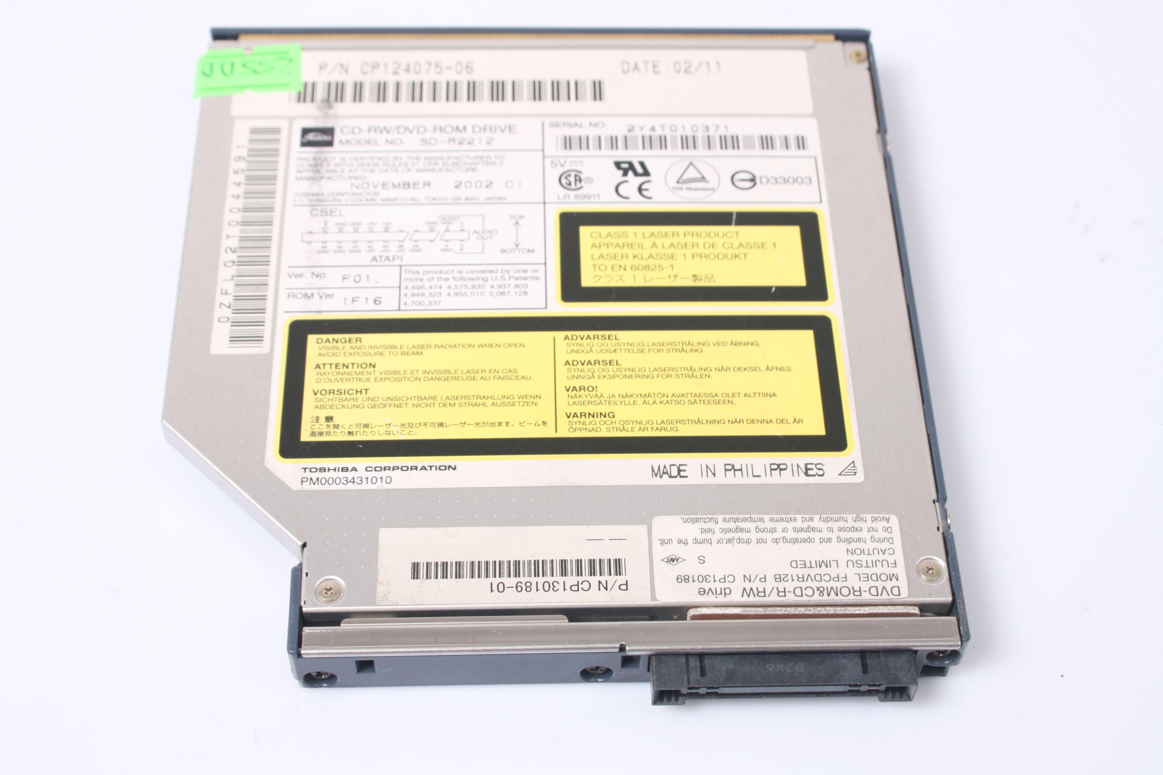 FUJITSU LifeBook S6110 S6120 Optical Drive DVD-ROM CP130189-01 CP124075-06