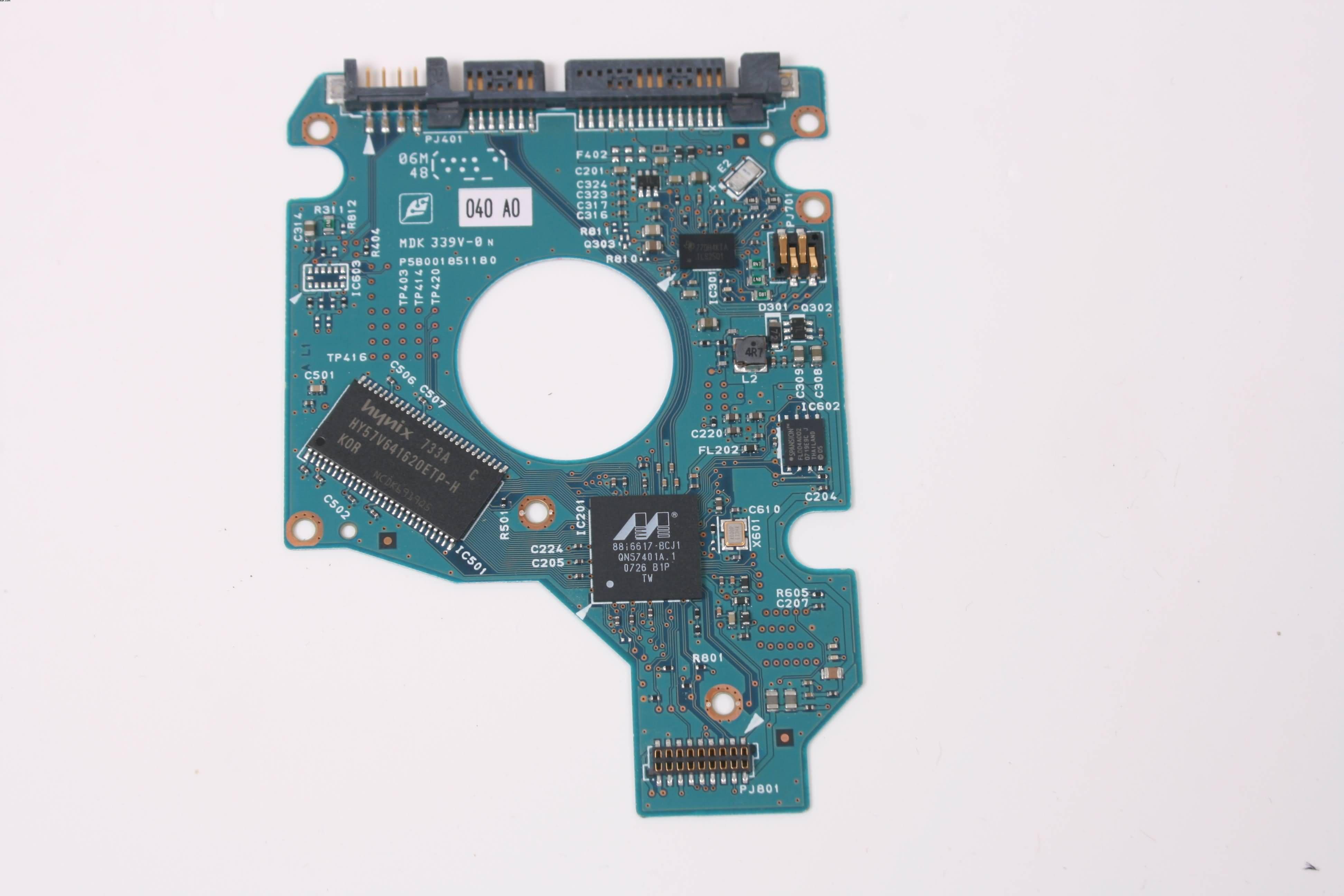 TOSHIBA MK1237GSX 120GB SATA HARD DRIVE PCB BOARD ONLY FOR DATA