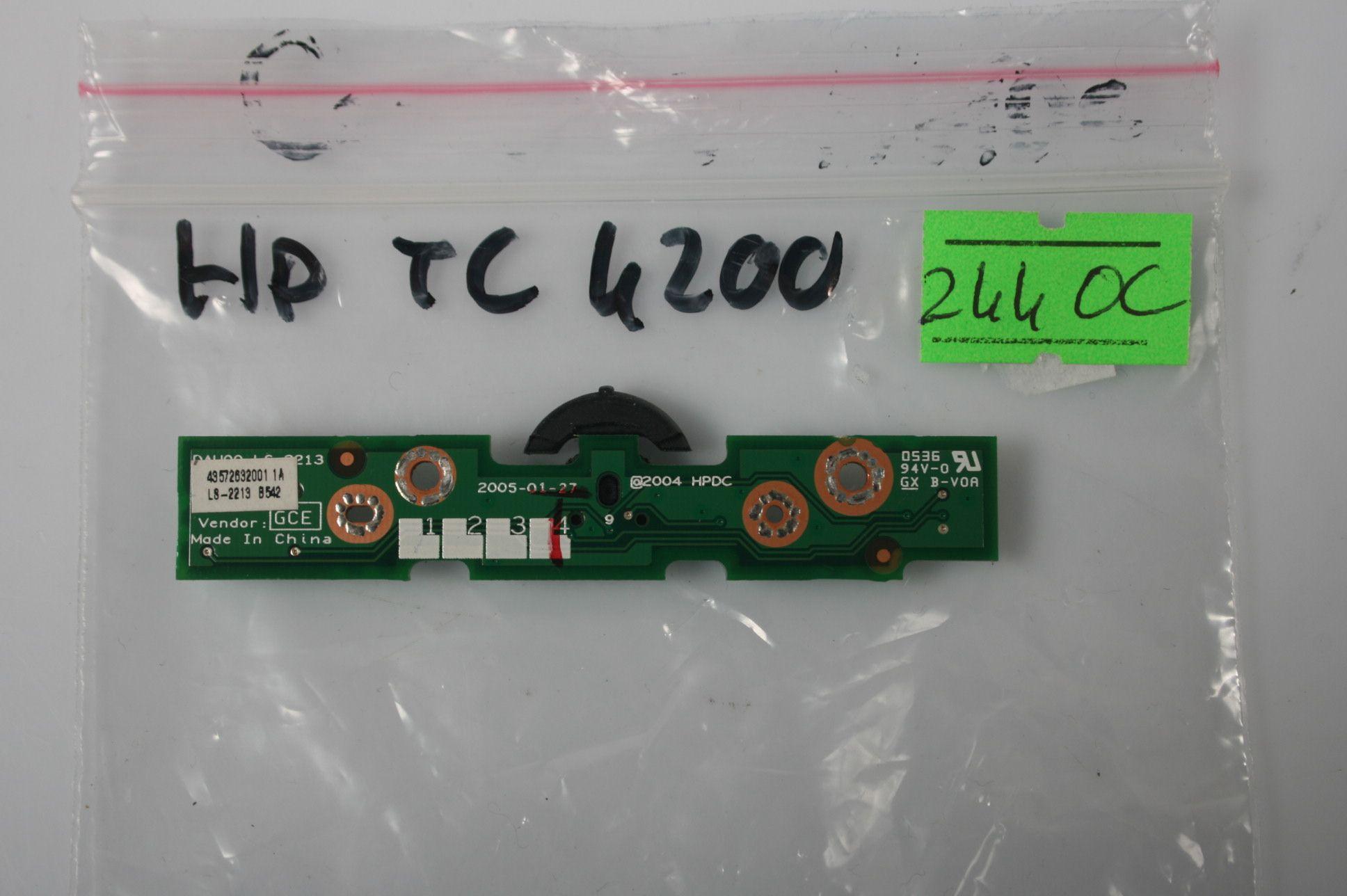 Hp Compaq TC4400 TC4200 Scroll Board Control Switch LS-2213