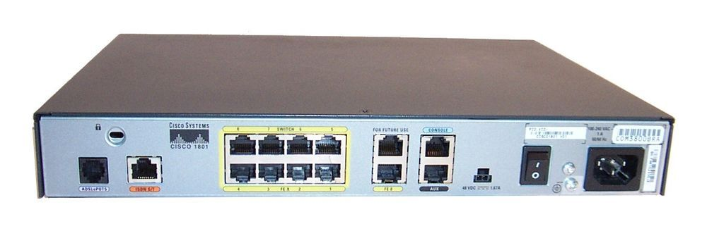 CISCO 1801 Ethernet ADSL Router W/ 64MB Flash Memory